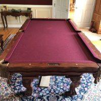 Hard Carved Solid Teak Pool Table