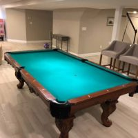 Olhausen 8' real wood pool table