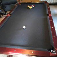 8' Blue Felt Pool Table